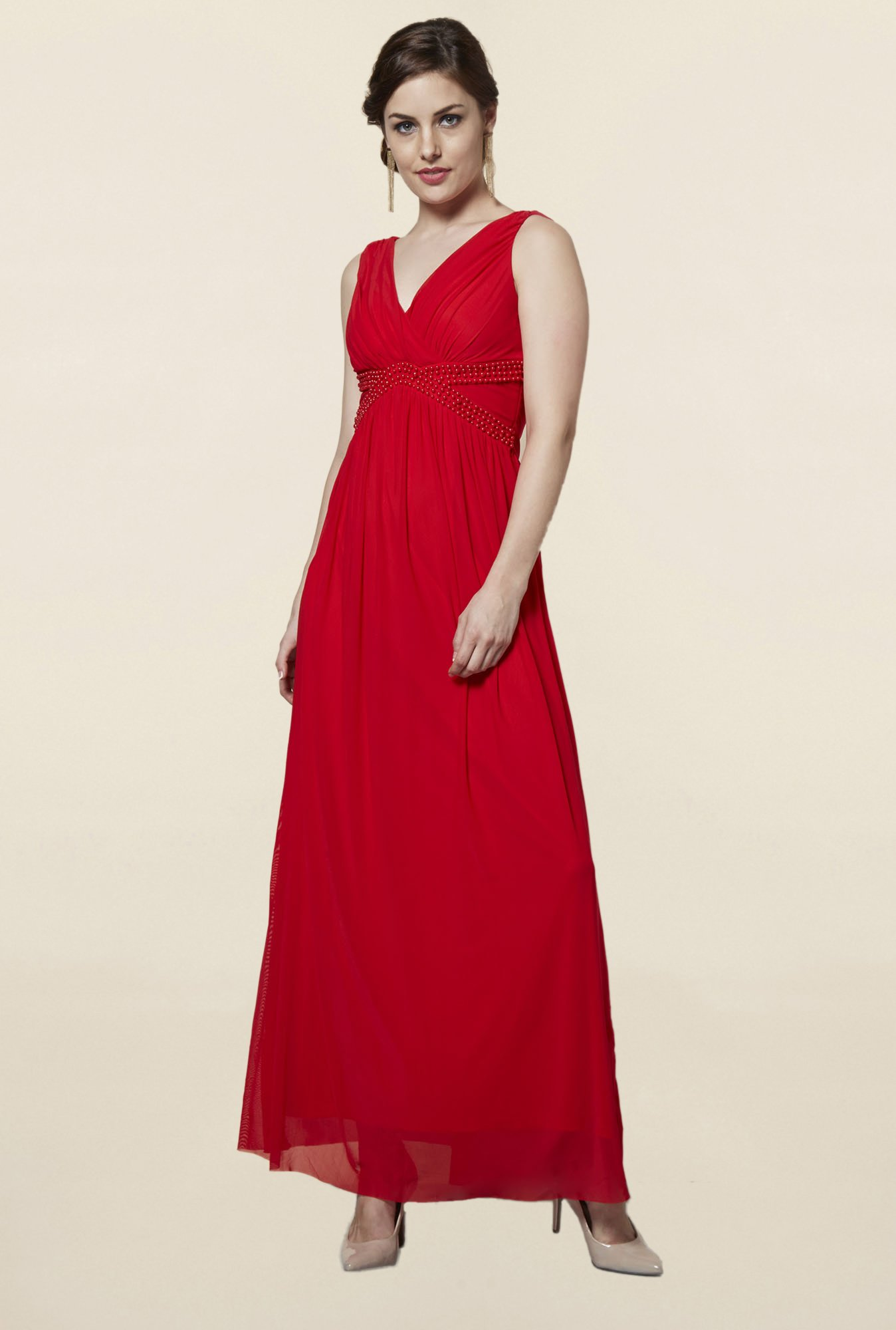 FG4 London Scarlet Red Maxi Dress