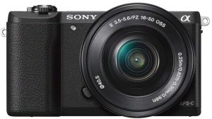Sony Alpha ILCE5100L 24.3MP Digital SLR Camera (Black)